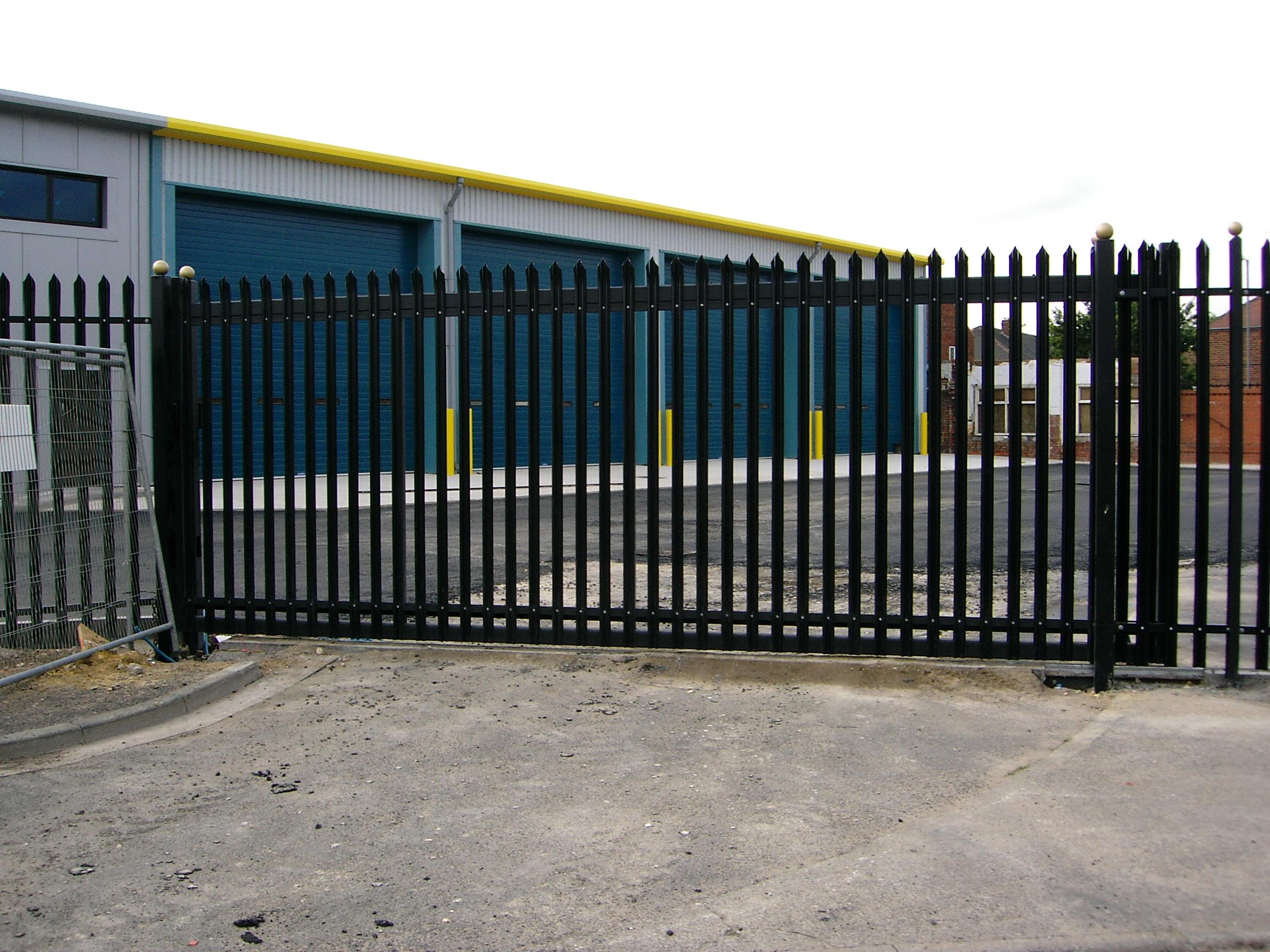 Industrial Slide Gate : London gates grilles industrial sliding archives
