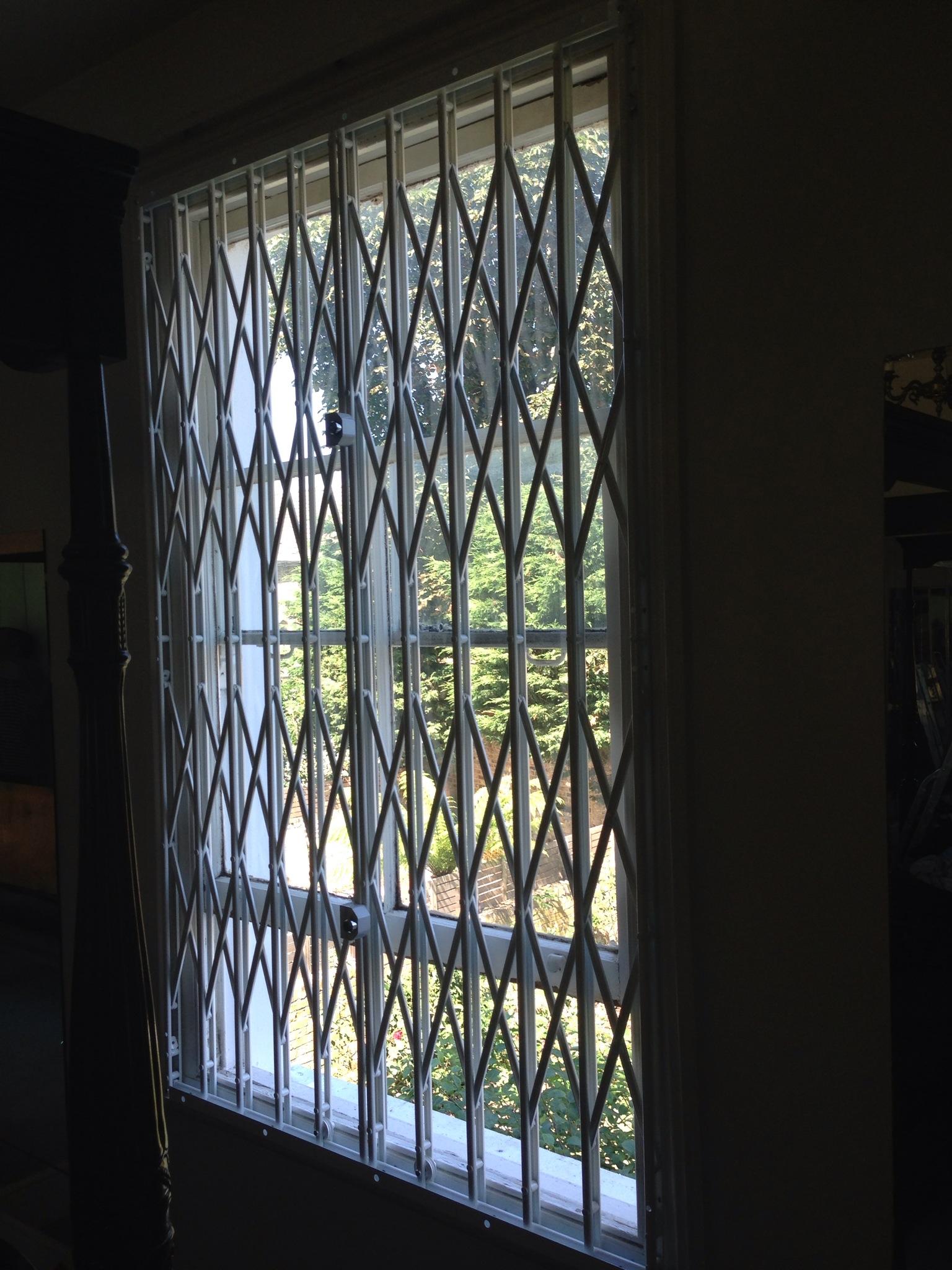 Concertina Window Security Grilles London Gates Grilles